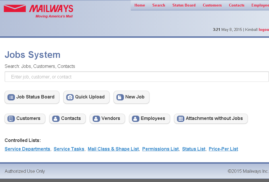 Mailways: Job Tracking System