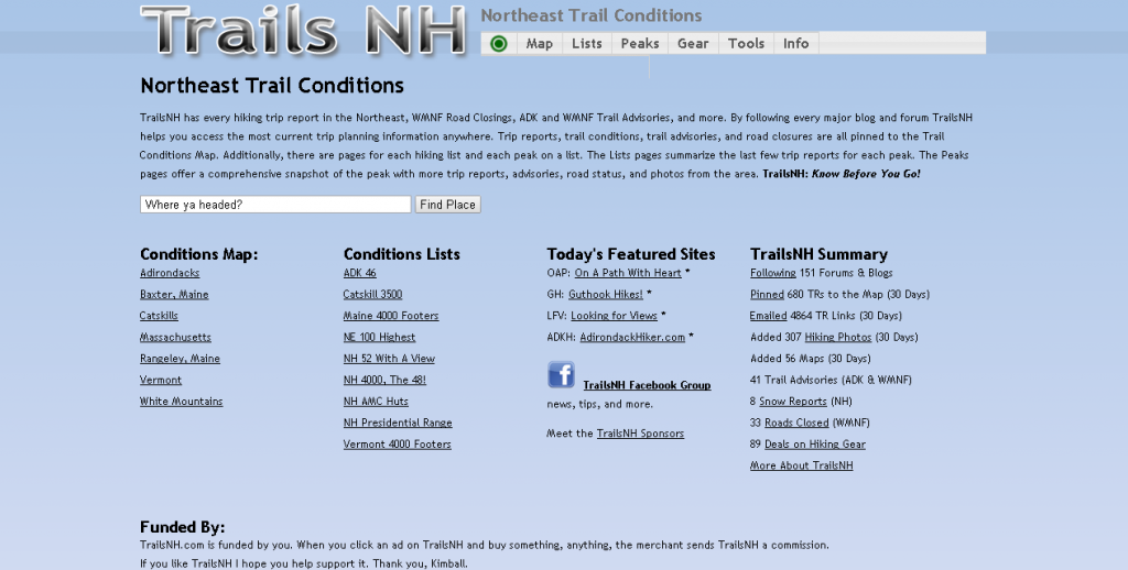 TrailsNH Northeast Trail Conditions