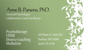 Anne B. Parsons, PhD. business card