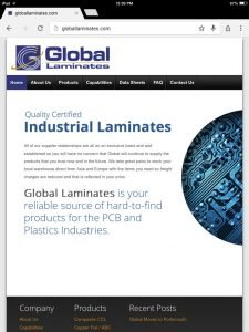 global laminates site ipad-mini display