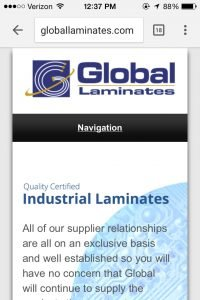 global laminates site iphone display