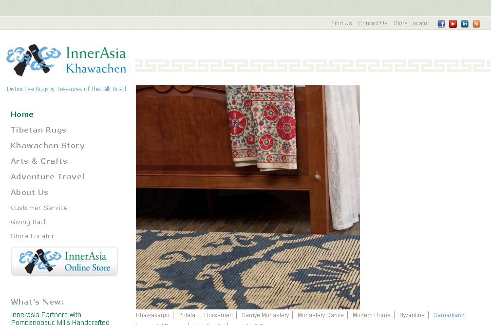 Distinctive Rugs   Treasures of the Silk Road   InnerAsia Rugs cropped