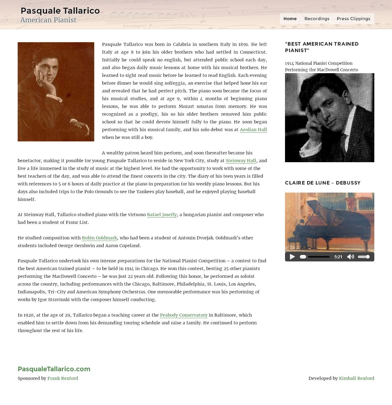 Pasquale Tallarico American Pianist