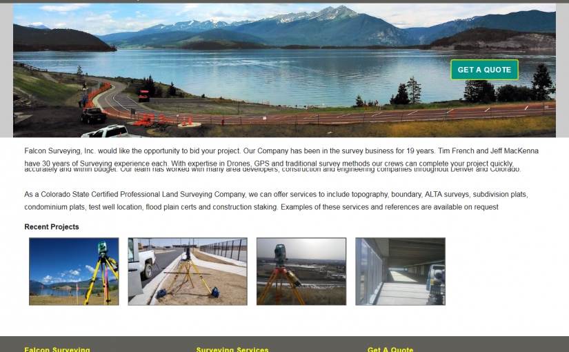 Falcon Surveying, Inc. Website