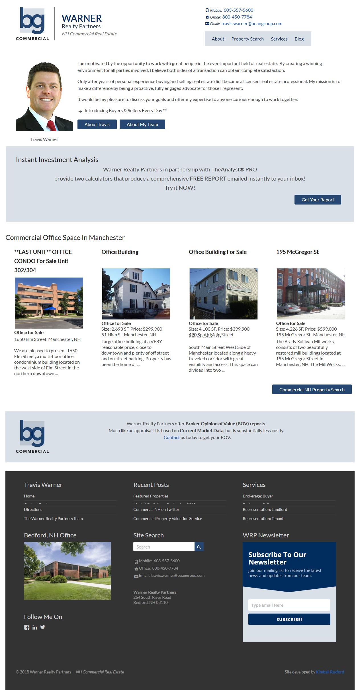 Warner Realty Partners – Real Estate Website
