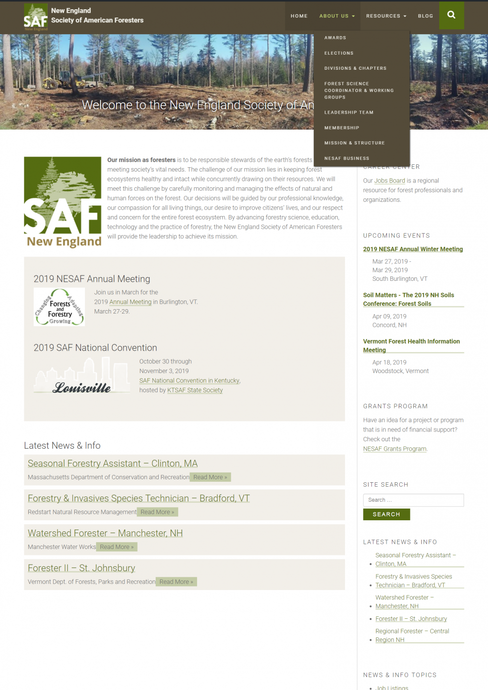 New Website For Forestry Organization