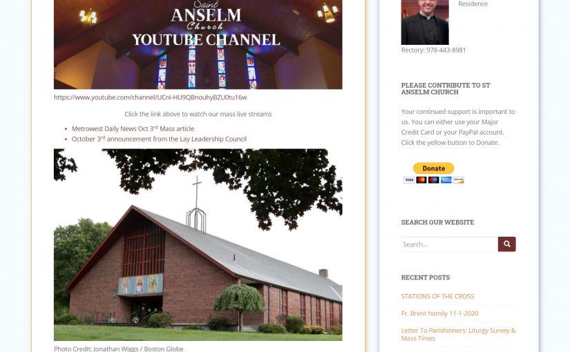 St Anselm's Website Rebuild